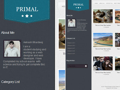 Download Primal Blogger Template