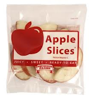 apple slices in a package