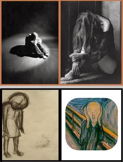 a tristeza pintada em quatros