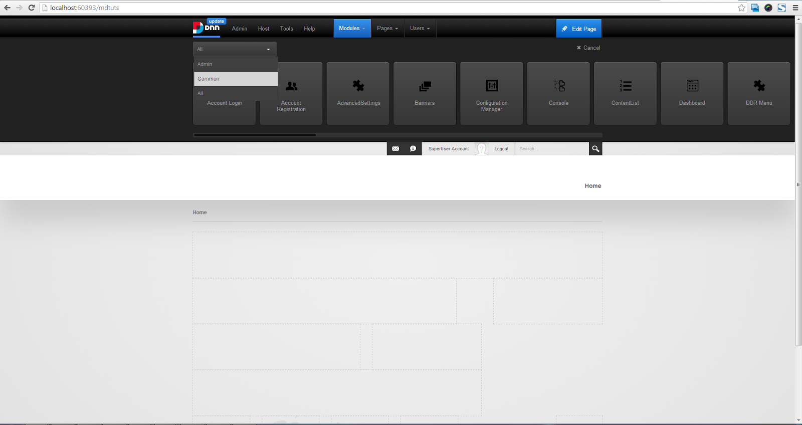Website Design and Development : Display DNN(DotNetNuke 7.x ) Module ...
