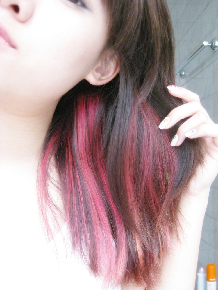 Dyed Hair Underneath Out of boredom, i dyed the