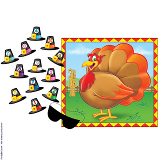 Pin the Hat on the Turkey Game