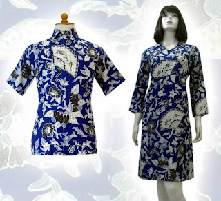 c MODEL BAJU BATIK WANITA MODERN