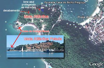 Devastação da Ponta do Bonfim - Colégio Naval