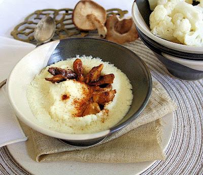 Creamy Cauliflower Puree with Shiitake and Smoked Paprika