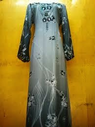jubah muslimah chiffon viscose