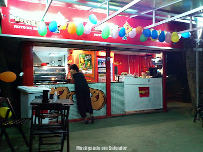 Coxinha do Gago: Ambiente da loja da R. Edith Mendes da Gama e Abreu