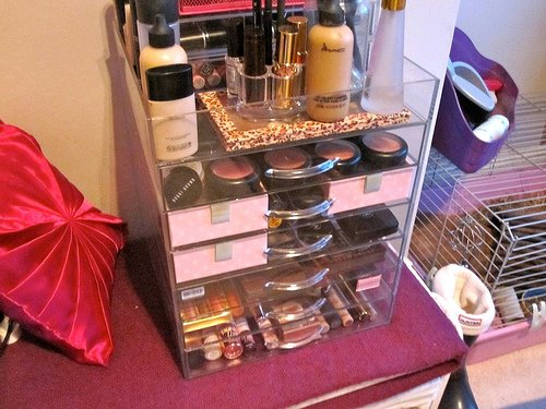 Fab Find Clear Cube Dupe Organize Your Makeup The Dash
