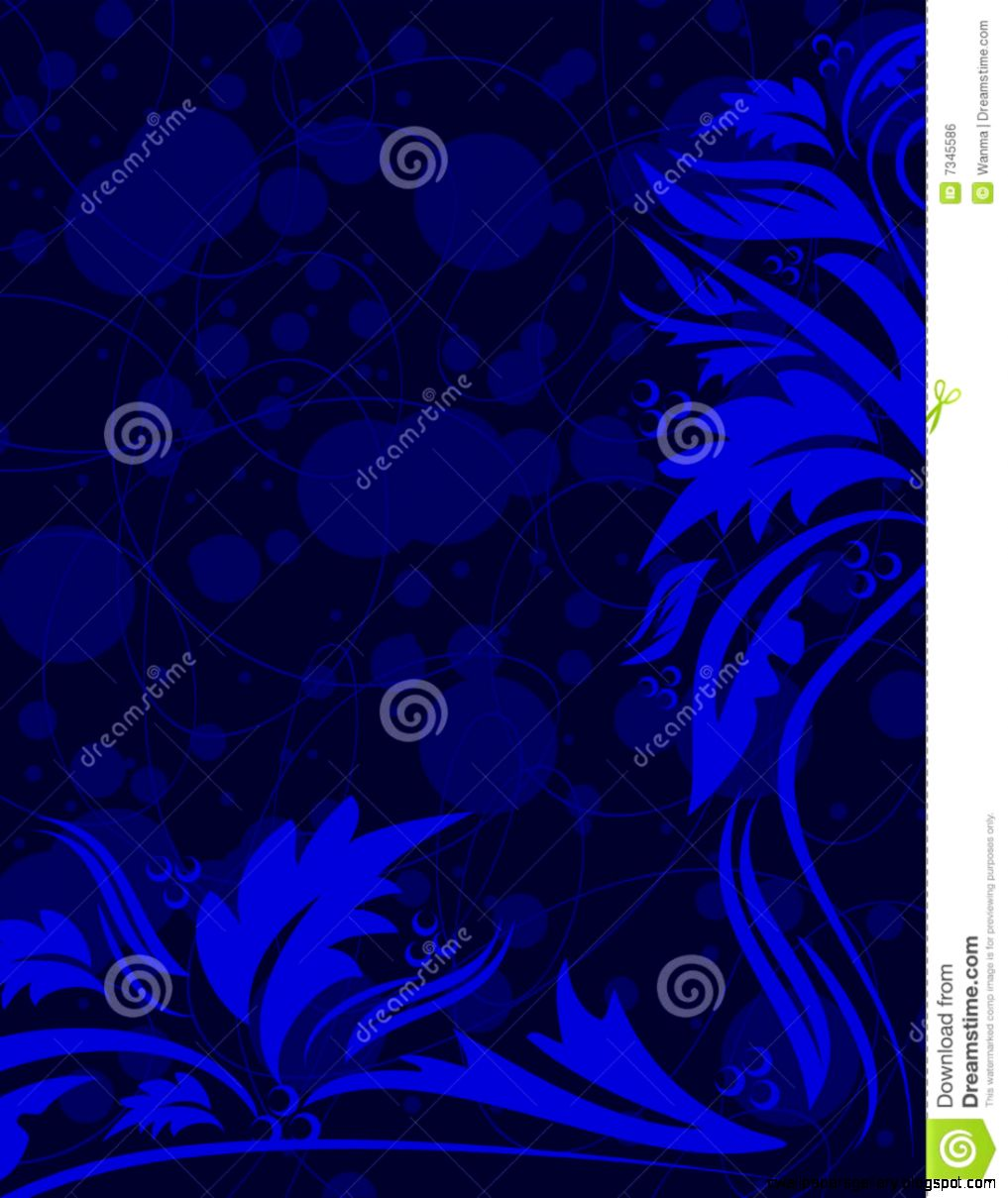 Navy Blue Fl Background Royalty Free Stock Image   Image 7345586