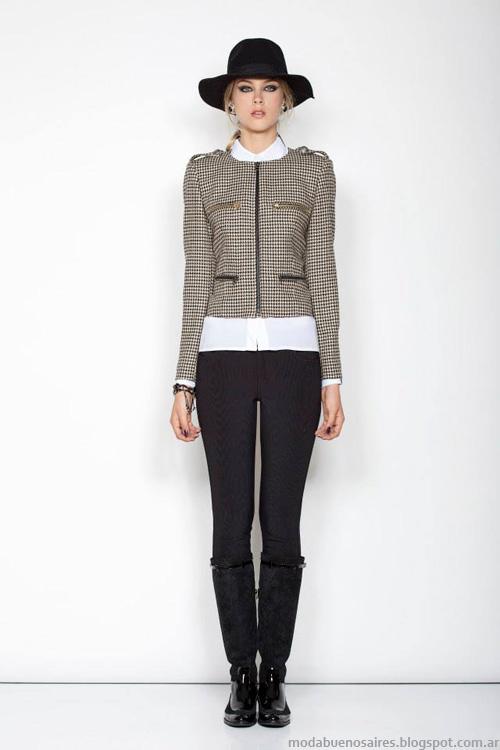 Janet Wise invierno 2014 chaquetas cortas.