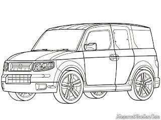 Mewarnai Mobil Honda Element SC