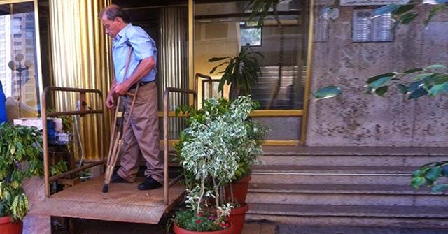 إعادة تأهيل مدخل مبنى اتحاد المقعدين اللبنانيين