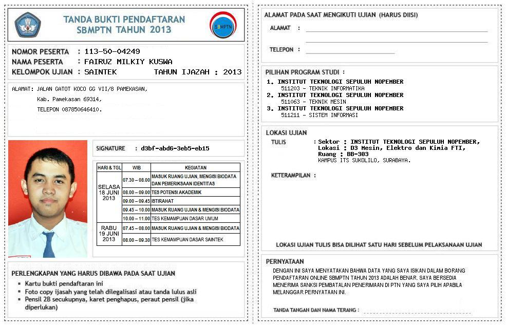 Cara Pengisian Form Pendaftaran Online Sbmptn 2013 Sukses Snmptn Sbmptn Spmb 2015