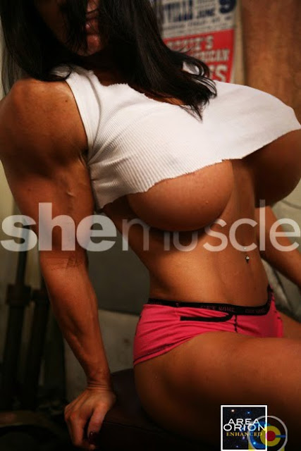female muscle & breast expansion morph