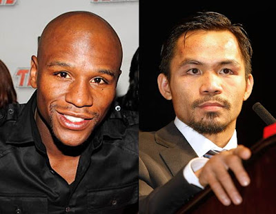 Erstwhile rival: Floyd Mayweather Jr and Manny Pacquiao