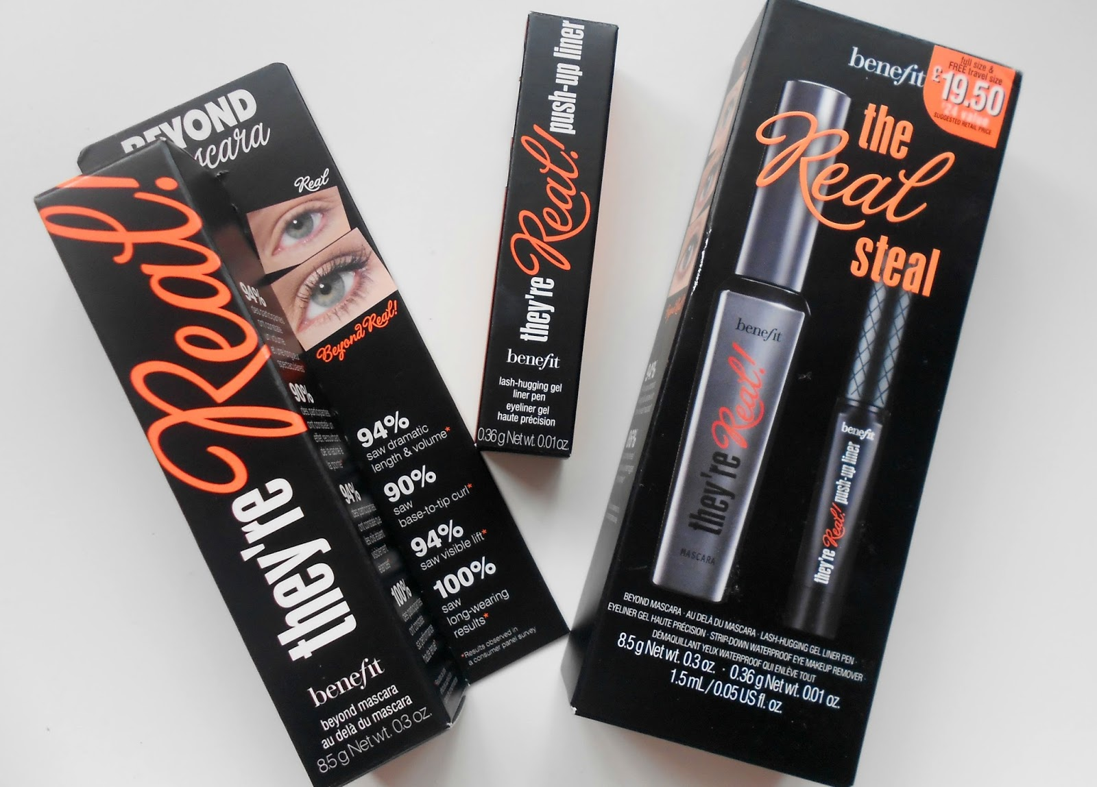 Lovely Jubbly: Benefit They're Real Mascara and Push up liner review