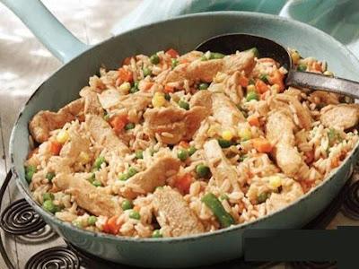 chicken-and-spanish-style-rice-skillet - طريقة عمل الأرز بالدجاج من المطبخ الإسباني