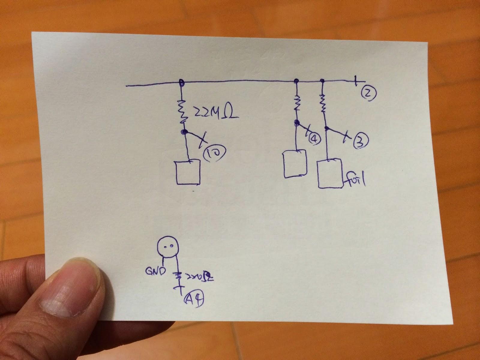 電容感應音樂樹的線路圖