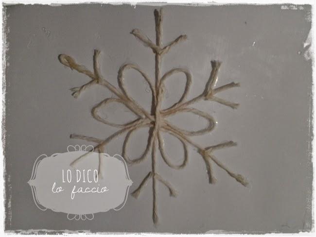 Fiocchi Di Neve Di Carta Da Ritagliare Tutorial : Fiocco di neve con lo spago stampabile tutorial lo dico lo