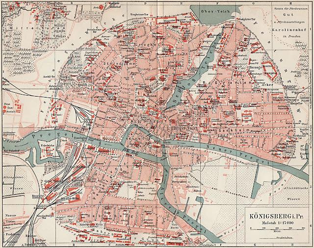 Alte Schulbuchkarte von 1905