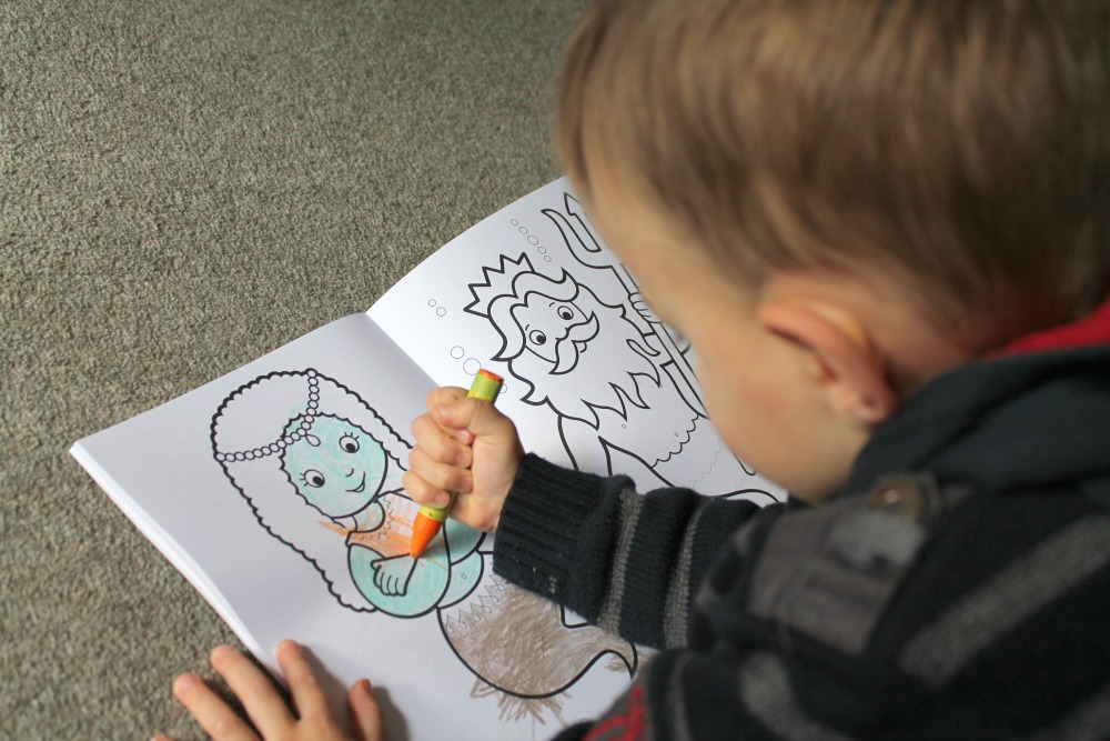 Colouring Pages Boy Girl : Review orchard toys giant railway colouring books quite