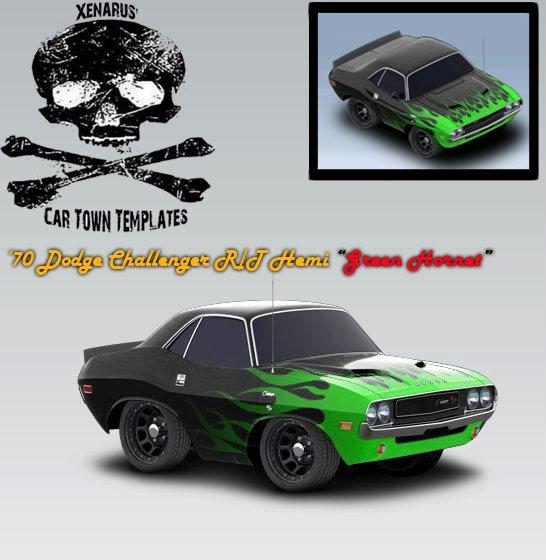 Dodge Challenger R/T HEMI 1970 - Green Hornet