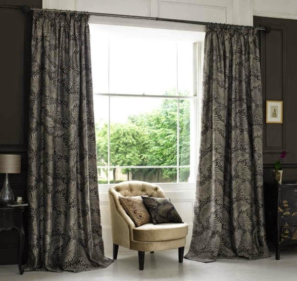 modern curtain designs stylish dark curtains in the bedroom