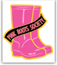 Proud member of the Pink Boots Society