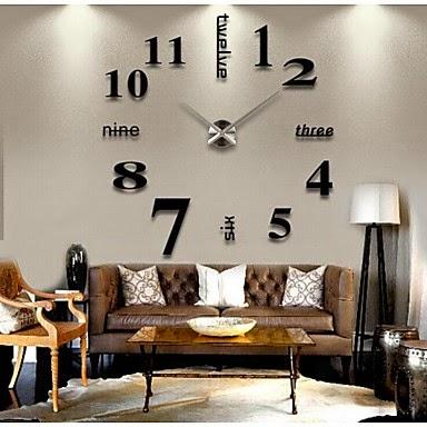 Reloj Números Adhesivos de Pared