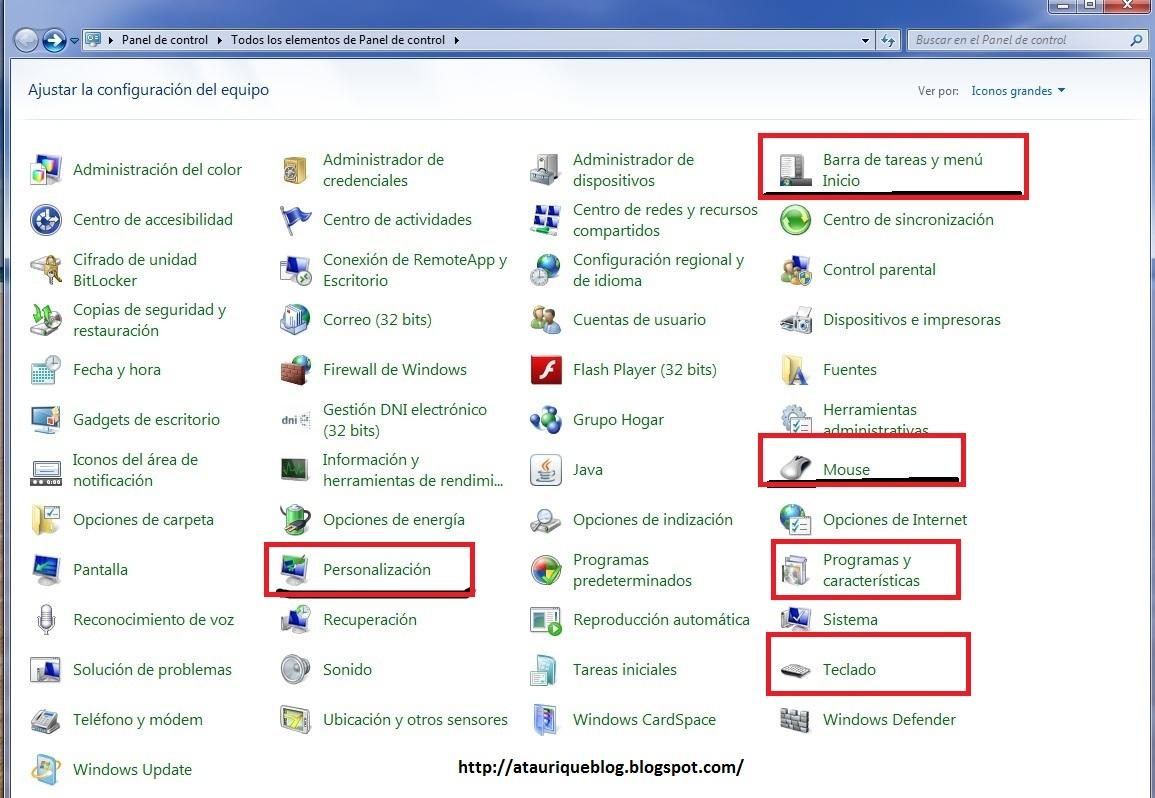 control panel windows 7 pdf