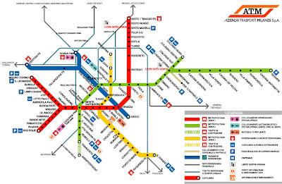 Milan Metro Map Pictures