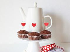 decoracion de cupcakes con corazones