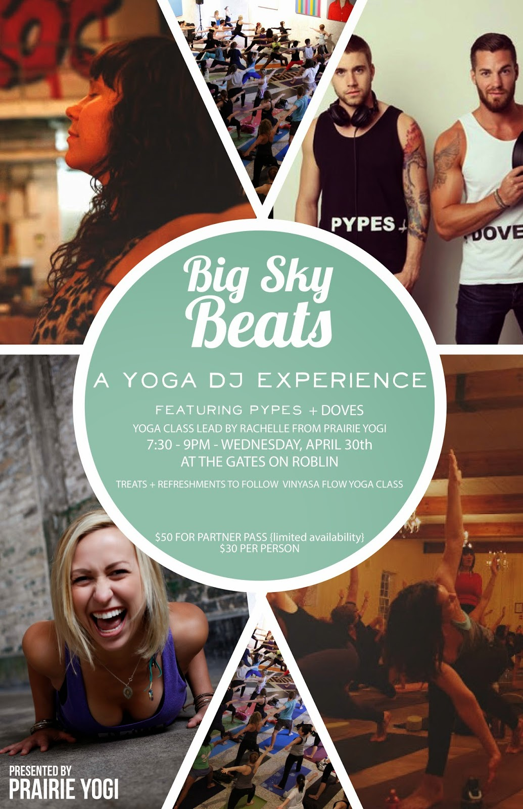 big sky beats, yoga events, DJ pypes and doves, the gates on robin, rachelle taylor, prairie yogi events, winnipeg events,
