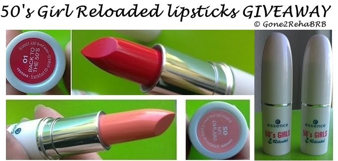 giveaway, Essence 50's girl realoeded lipstick, swatches, picture, review, 03 I'ma sailing, 02 Back to the 50's
