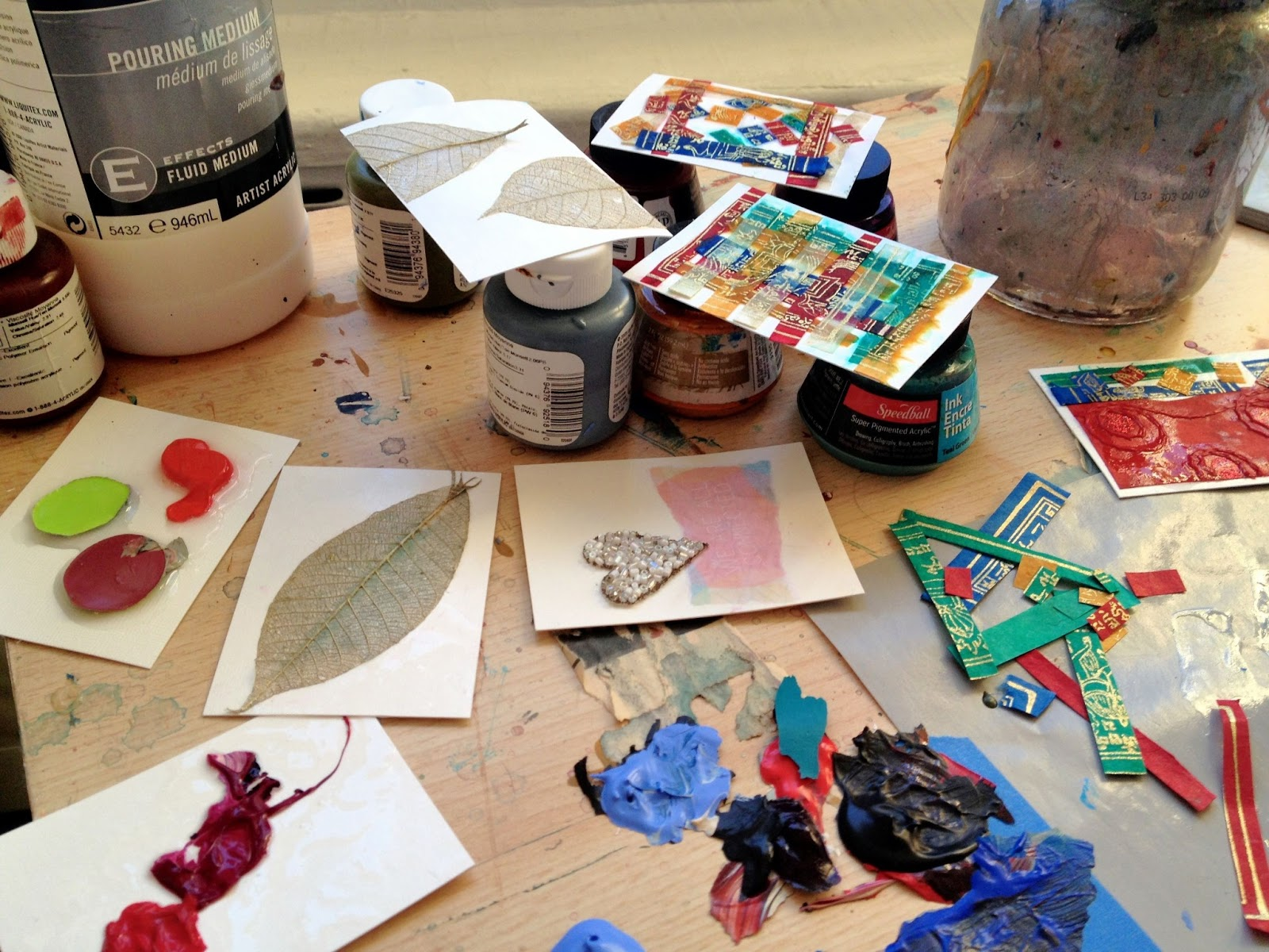 art therapy spot artist trading cards atc s building community