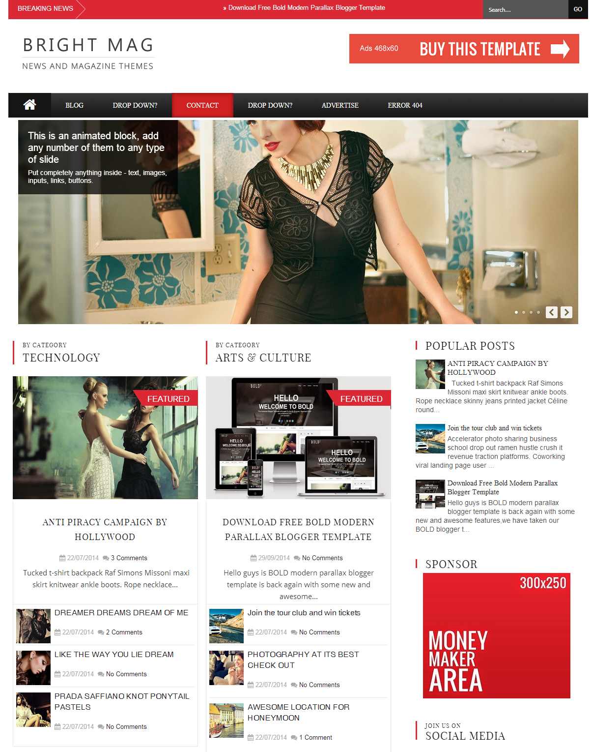 Share Bright Mag Responsive Blogger Template