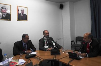 Ministério de Relações Exteriroes da OLP e Delegação Brasileira