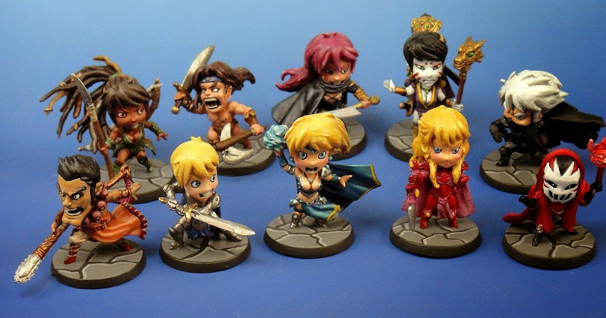 Paint and Brush AK: Arcadia Quest - rest of the base set heroes