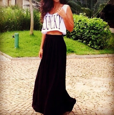 saia longa top cropped