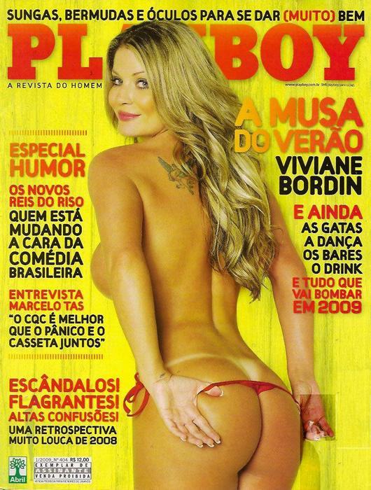 Confira as fotos da felina e super gata do surf e musa do verão, Viviane Bordin, capa da Playboy de janeiro de 2009!