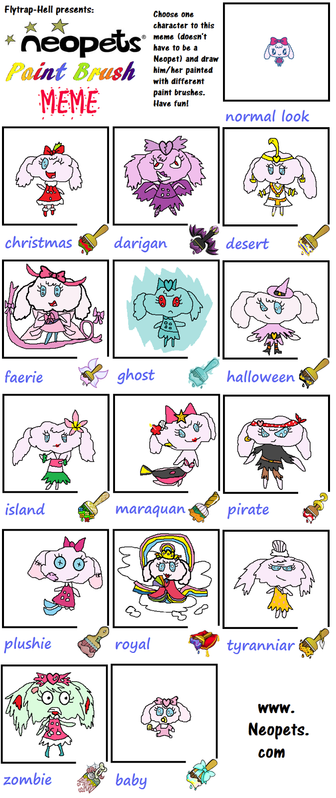 Plushie Paint Brush Neopets