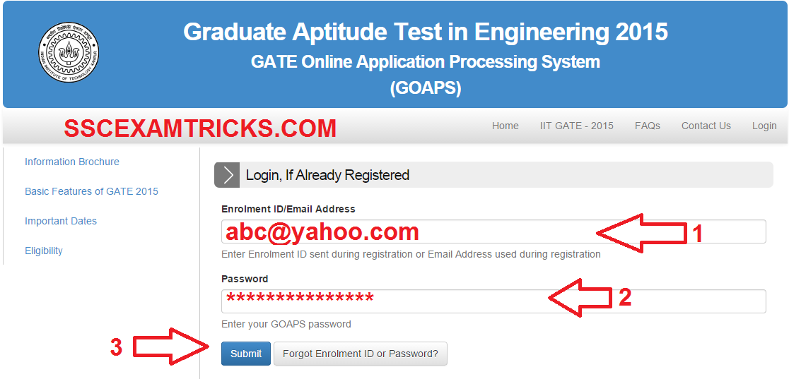 GATE 2014 ONLINE ADMIT CARDS