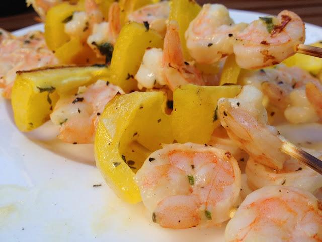 Garlic Shrimp Skewers