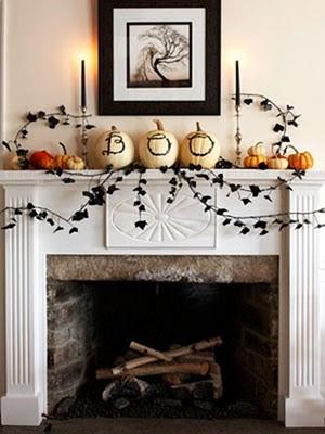 Diseos de chimeneas para estas fiestas de Halloween 2011
