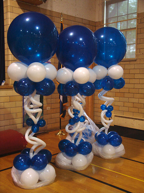 Balloon designs pictures balloon column for Balloon column decoration