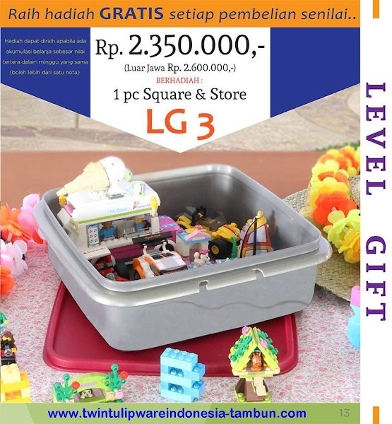 Level Gift 3 Twin Tulipware Nopember - Desember 2015