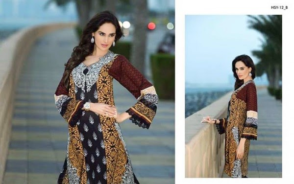 HSY latest spring lawn collection 2015