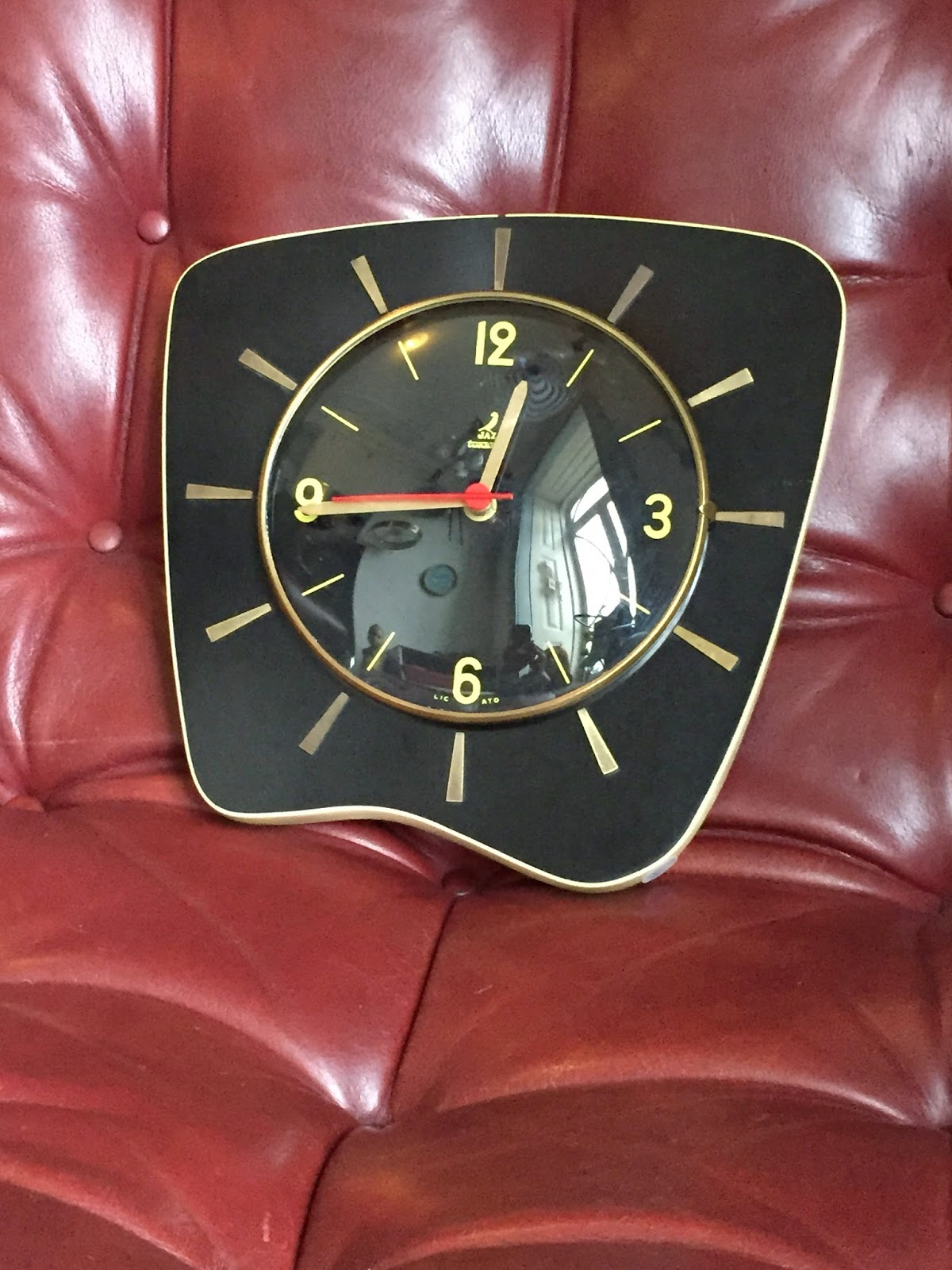 relógio vintage, made in france, relógio Jaz, decoração vintage, anos 50