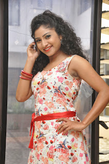 Vishnu Priya Latest Pictures in Short Dress at Nenu Naa Friends Movie Press Meet