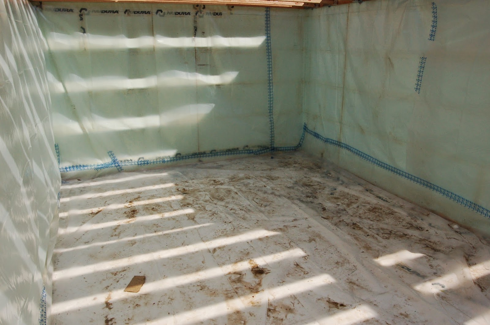 A Continuous Vapor Barrier Is Added To Our Basement Foundation, With Taping  At All Seams And Penetrations. This Barrier Will Be Under The Concrete Slab  Of ...